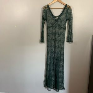 Vintage Peace Angel Sheer Lace Maxi Dress